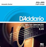 Струны для акустической гитары D'Addario EJ11 -