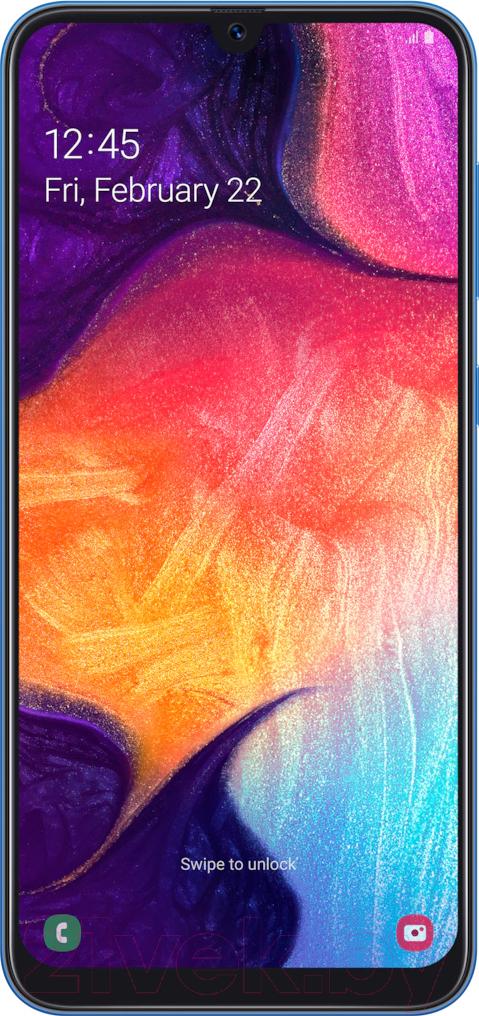 Купить Смартфон Samsung, Galaxy A50 64GB (2019) / SM-A505FZBUSER (синий), Китай