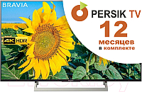 Телевизор Sony KD-49XF8096B + видеосервис Persik на 12 месяцев -