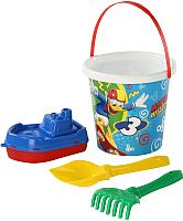 Набор игрушек для песочницы Полесье Микки и Веселые гонки №10 / 65650 -