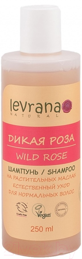 Купить Шампунь для волос Levrana, Для нормальных волос дикая роза (250мл), Россия
