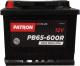 Автомобильный аккумулятор Patron Plus PB65-600L (65 А/ч) -