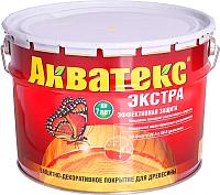Защитно-декоративный состав Акватекс Экстра (10л, белый) -