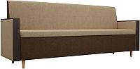 Скамья кухонная мягкая Mebelico Модерн 169 / 100159 (вельвет, бежевый/коричневый) -