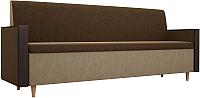 Скамья кухонная мягкая Mebelico Модерн 169 / 100161 (вельвет, коричневый/бежевый) -