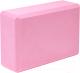 Блок для йоги Sundays Fitness IR97416 (розовый) -