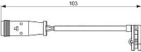 Датчик износа тормозных колодок Bosch 1987473037 -