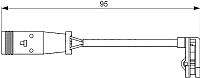 Датчик износа тормозных колодок Bosch 1987473036 -