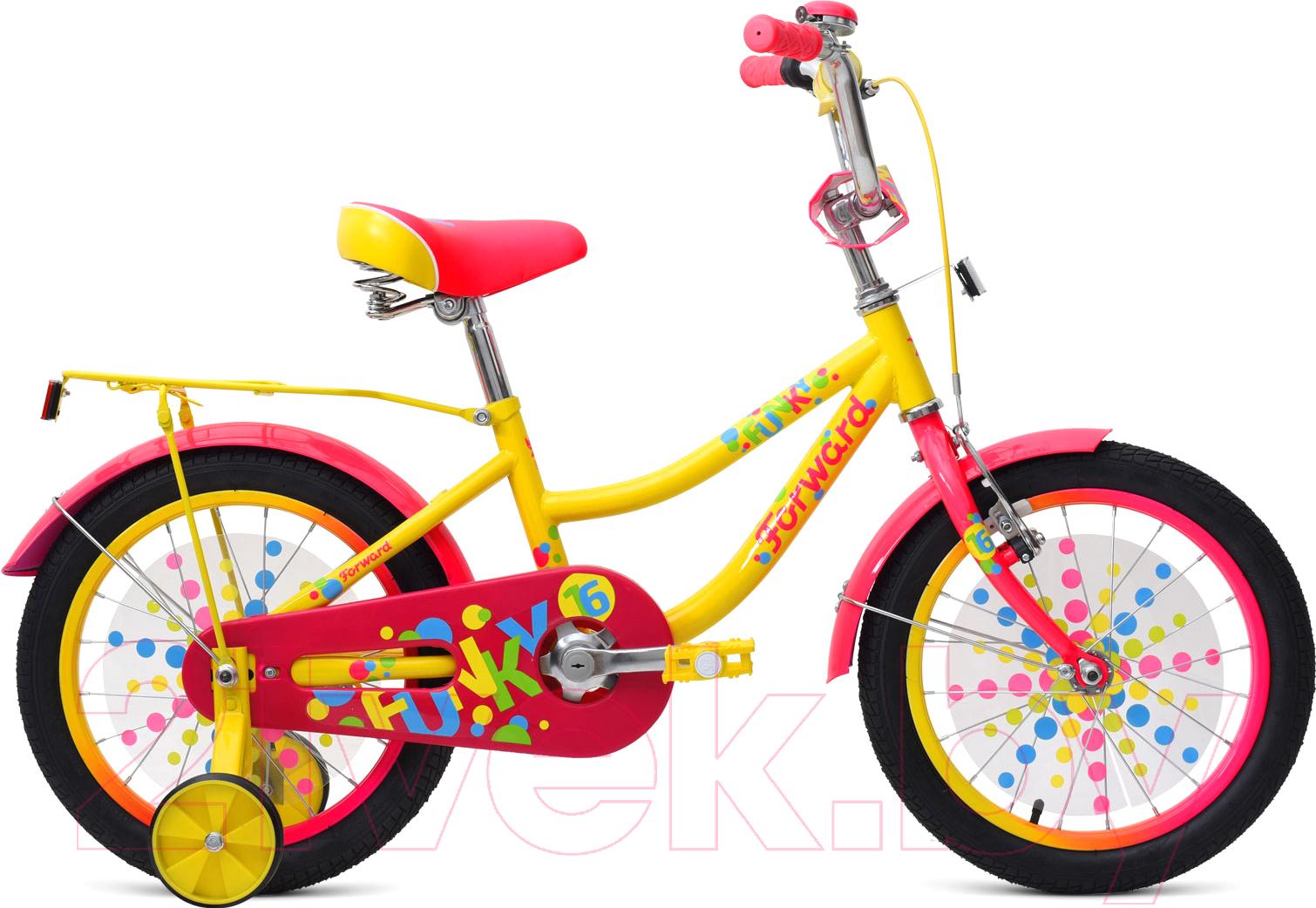 Купить Детский велосипед Forward, Funky 2019 / RBKW9LNG1011 (16, желтый), Россия