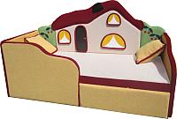 Кровать-тахта детская М-Стиль Теремок (левая) -