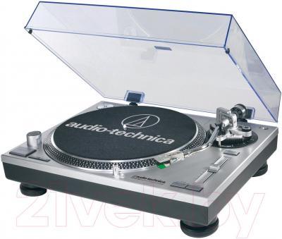 Проигрыватель виниловых пластинок Audio-Technica AT-LP120-USBHS10 (серебристый) - общий вид