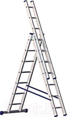 Лестница секционная Алюмет 5308 - общий вид