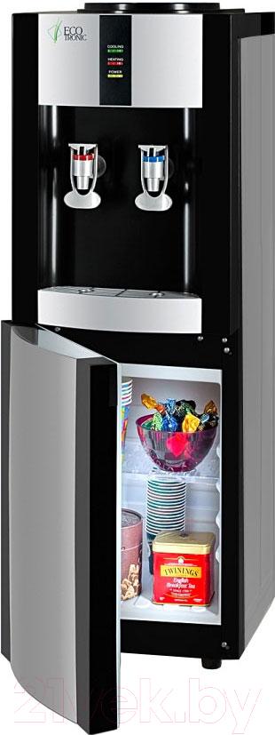Купить Кулер для воды Ecotronic, V21-LE со шкафчиком (серебристый/черный), Китай