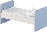 Односпальная кровать Славянская столица ДУ-КО16 (белый/синий) -