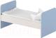 Односпальная кровать детская Славянская столица ДУ-КО16 (белый/синий) -