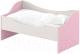 Кровать-тахта детская Славянская столица ДУ-КЛ16 (белый/розовый) -