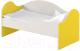 Кровать-тахта детская Славянская столица ДУ-КО14-2 (белый/желтый) -