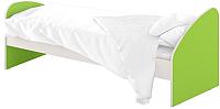 Односпальная кровать Славянская столица ДУ-КО14-4 (белый/зеленый) -