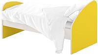 Односпальная кровать Славянская столица ДУ-КО14-4 (белый/желтый) -