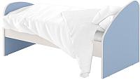 Односпальная кровать Славянская столица ДУ-КО14-4 (белый/синий) -