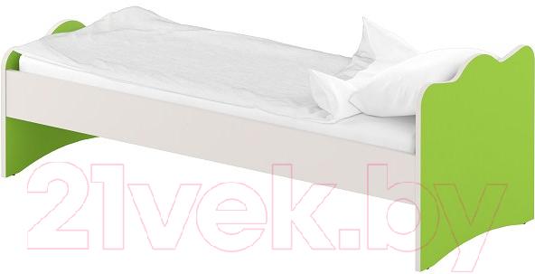 Купить Односпальная кровать Славянская столица, ДУ-КО12-14 (белый/зеленый), Беларусь