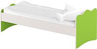 Односпальная кровать Славянская столица ДУ-КО12-14 (белый/зеленый) -
