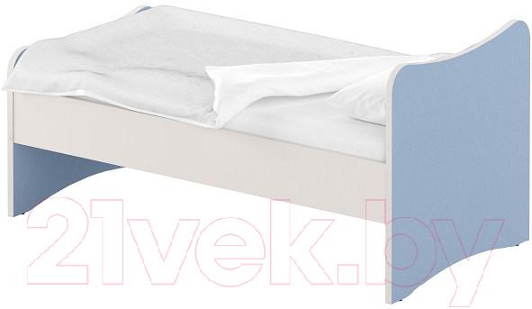 Односпальная кровать Славянская столица, ДУ-КО16-13 (белый/синий), Беларусь  - купить со скидкой