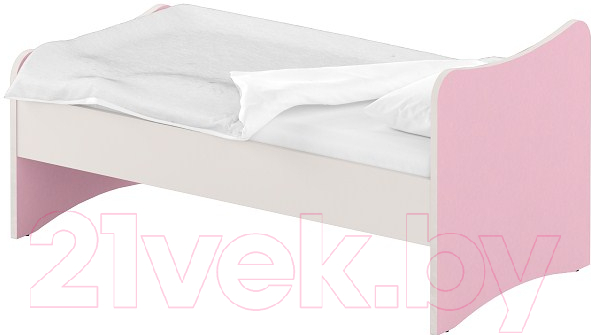 Купить Односпальная кровать Славянская столица, ДУ-КО14-13 (белый/розовый), Беларусь