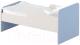 Односпальная кровать детская Славянская столица ДУ-КО14-11 (белый/синий) -
