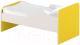 Односпальная кровать Славянская столица ДУ-КО14-11 (белый/желтый) -