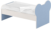 Односпальная кровать Славянская столица ДУ-КО16-10 (белый/синий) -