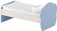 Односпальная кровать Славянская столица ДУ-КО14-6 (белый/синий) -