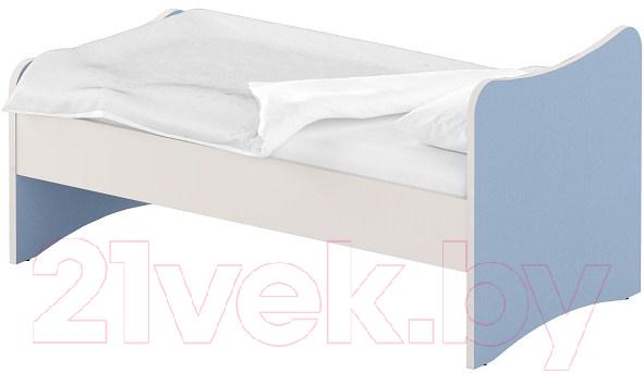Купить Односпальная кровать Славянская столица, ДУ-КО14-13 (белый/синий), Беларусь