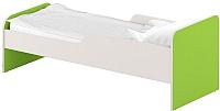 Односпальная кровать Славянская столица ДУ-КО14-11 (белый/зеленый) -