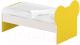 Односпальная кровать Славянская столица ДУ-КО14-10 (белый/желтый) -