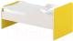 Односпальная кровать детская Славянская столица ДУ-КО16-11 (белый/желтый) -