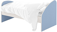 Односпальная кровать Славянская столица ДУ-КО16-4 (белый/синий) -