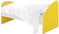 Односпальная кровать Славянская столица ДУ-КО16-4 (белый/желтый) -