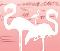Шторка-занавеска для ванны Miranda Flamingo Pink -