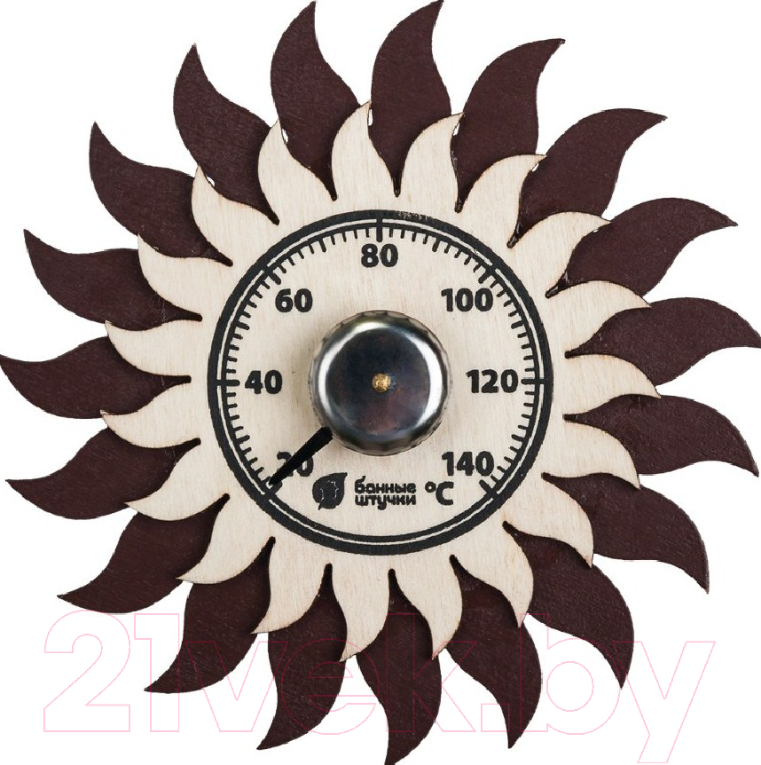 Купить Термометр для бани Банные Штучки, Солнышко / 18043, Китай, дерево