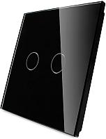 Лицевая панель для выключателя Livolo BB-C7-C2-12 (черный) -