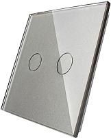 Лицевая панель для выключателя Livolo BB-C7-C2-15 (серый) -