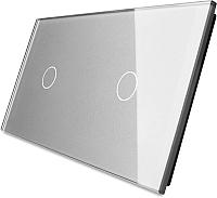 Лицевая панель для выключателя Livolo BB-C7-C1/C1-15 (серый) -