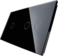 Лицевая панель для выключателя Livolo BB-C7-C1/C2-12 (черный) -
