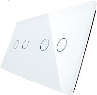 Лицевая панель для выключателя Livolo BB-C7-C2/C2-11 (белый) -