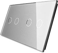 Лицевая панель для выключателя Livolo BB-C7-C2/C2-15 (серый) -