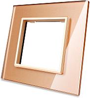 Рамка для выключателя Livolo BB-C7-SR-13 (золото) -