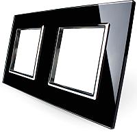 Рамка для выключателя Livolo BB-C7-SR/SR-12 (черный) -