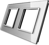 Рамка для выключателя Livolo BB-C7-SR/SR-15 (серый) -