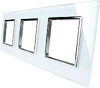 Рамка для выключателя Livolo BB-C7-SR/SR/SR-11 (белый) -